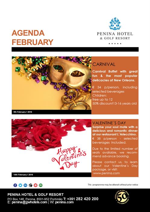 2016 Penina Agenda February