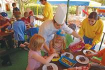 Cake Toppings at the Kangaroo Kids Club at Penina Hotel and Golf Resort