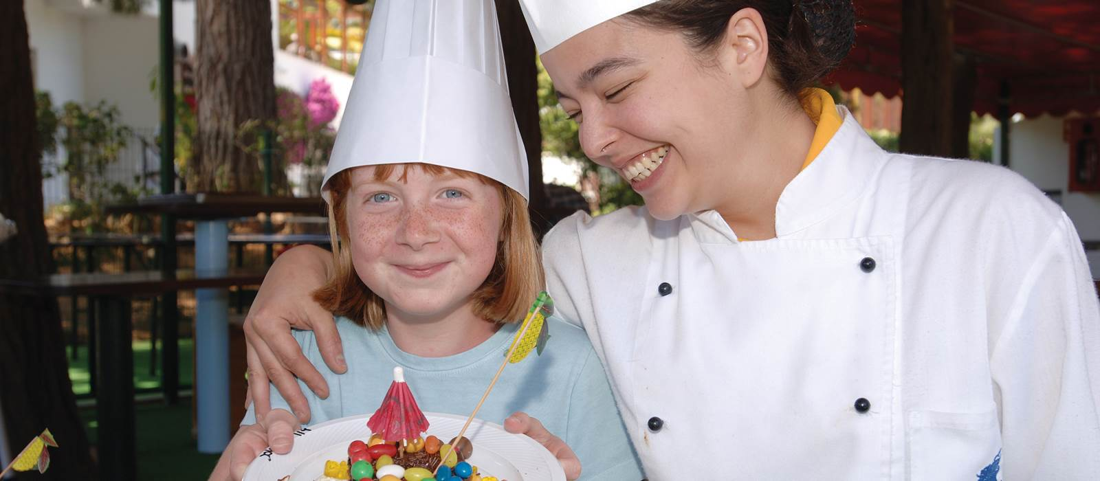 Chef and Child at the Kangaroo Kids Club at Penina Hotel and Golf Resort