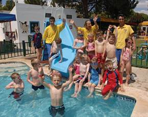Swimming Pool Activities at the Kangaroo Kids Club at Penina Hotel and Golf Resort