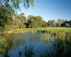 Water on the Sir Henry Cotton Championship Course at Penina Hotel and Golf Resort