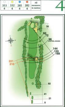 Map of Hole 4 on the Championship Course at Penina Golf Resort
