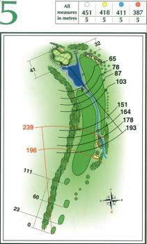 Map of Hole 5 on the Championship Course at Penina Golf Resort