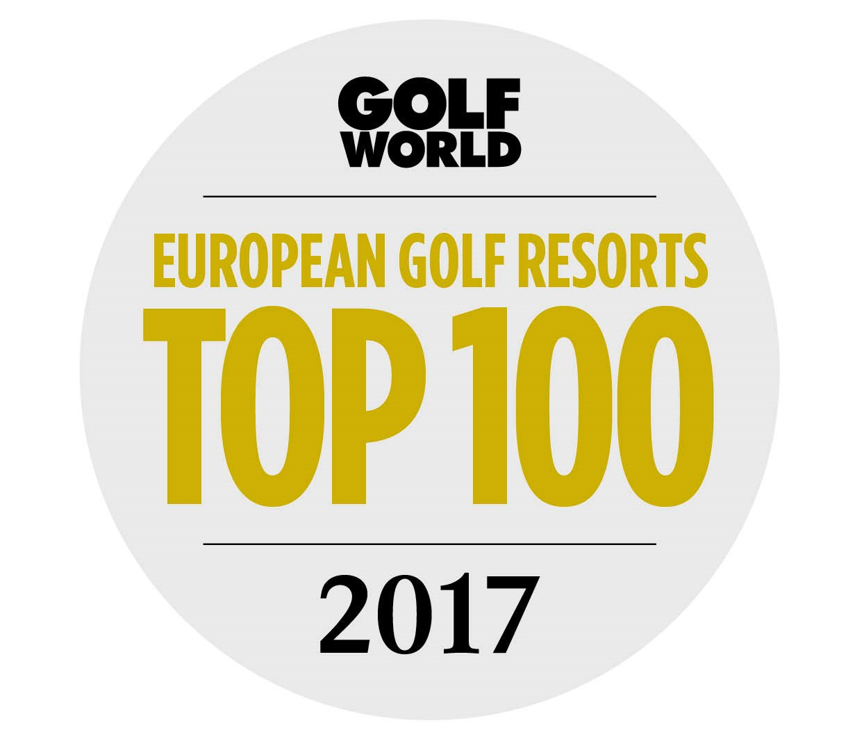 Golf World Top 100 Resorts Logo 2017