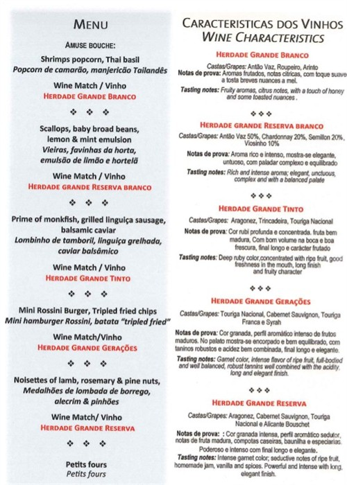 wine and food pairing menu at le grill on 4th july 2014_500x700
